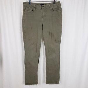NYDJ Green Straight Jeans